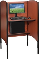 MooreCo Up-Rite Single User Adjustable Height Carrel 90294