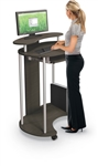 MooreCo Up-Rite Standing Mobile Workstation 91105