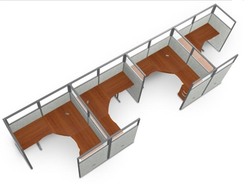 4 Person Modular Office Desk Cer R1x4 6372 P By Ofm