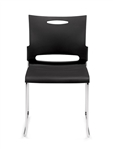Offices To Go Black Plastic Stackable Guest Chair 11310B