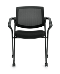 Offices To Go Mesh Back Flip Seat Nesting Chair
