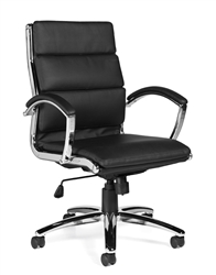 Segmented Cushion Luxhide Office Chair 11648B by Offices To Go