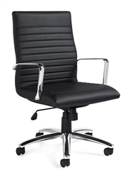 Luxhide Leather Offices To Go Executive Ribbed Back Conference Chair 11730B