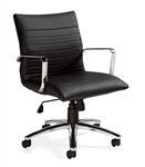 Offices To Go Model OTG11734B Luxhide Chair