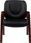 OTG11770B Wood Guest Chair by Offices to Go