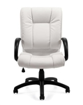 High Back White Luxhide Executive Chair 2700-BL28 by Offices To Go