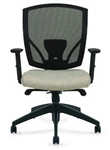Offices To Go Mesh Back Chair with Custom Seat Upholstery