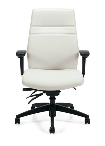 White Leather Managers Chair by Offices To Go