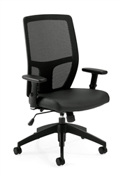 Offices To Go Mesh Synchro-Tilter Chair with Ratchet Back