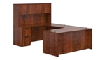 6 Piece Executive Style U Desk Layout in Dark Cherry by Offices To Go