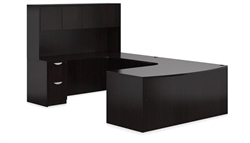 Espresso Executive Desk with Hutch SL-D-AEL by Offices To Go