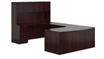 Offices To Go SL-D Mahogany Executive Desk