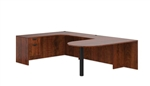 Peninsula Style U Desk in Dark Cherry by Offices To Go