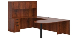 Offices To Go American Dark Cherry Casegoods Furniture Set SL-F-ADC