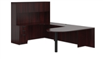 Offices To Go Mahogany Desk Layout SL-F-AML