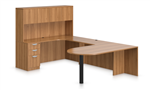 Offices To Go Superior Laminate Desk SL-F In Walnut