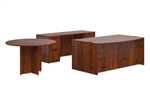"SL-G-ADC 71"" Executive Desk with Credenza and Table by Offices To Go"
