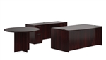 Offices To Go Superior Laminate Mahogany Office Furniture Set