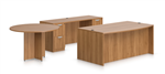 Offices To Go SL-G Superior Laminate Office Furniture Set In Walnut