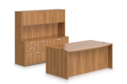 Offices To Go SL-J Superior Laminate Configuration In Autumn Walnut