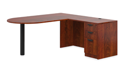 Offices To Go American Dark Cherry Superior Laminate Corner Desk SL-K