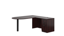 Offices To Go SL-K-AML Mahogany D-Island Desk with Pedestal