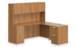 Offices To Go SL-L Superior Laminate Desk with Hutch