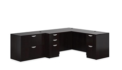 Espresso Desk and Lateral File Cabinet Set SL-N-AEL by Offices To Go