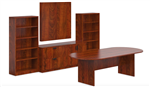 Offices To Go SL-P Superior Laminate Dark Cherry Conference Furniture Set
