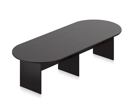 Espresso Finished Racetrack Conference Table SLRSAEL By - Espresso conference table