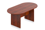 Dark Cherry Superior Laminate Conference Table by Offices To Go