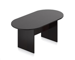 Small Racetrack Conference Table with Espresso Finish by Offices To Go