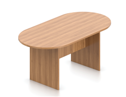 Offices To Go Autumn Walnut Oval Shaped Superior Laminate Table