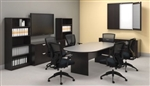 "Espresso Laminate 95"" Racetrack Conference Table SL9544RS-AEL by Offices To Go"