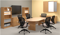 Offices To Go Walnut Finished Superior Laminate Boardroom Table
