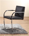 High End Arlo Side Chair in Black Leather by Woodstock Marketing