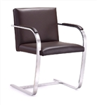 Brown Italian Leather Arlo Chair by Woodstock Marketing