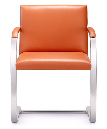 Furniture Deals Com: Tan Leather Arlo Side Chair By Woodstock Marketing