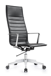 Joe High Back Carbon Black Leather Executive Chair by Woodstock Marketing