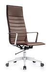 Joe High Back Chestnut Brown Leather Executive Chair by Woodstock Marketing