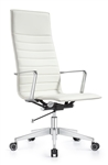 Joe High Back Cloud White Leather Executive Chair by Woodstock Marketing