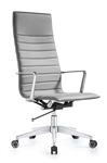 Joe High Back Midtown Gray Leather Executive Chair by Woodstock Marketing