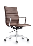 Joe Chestnut Brown Ribbed Back Conference Chair by Woodstock Marketing