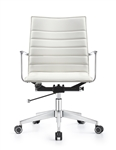 Joe Cloud White Ribbed Back Conference Chair by Woodstock Marketing