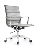 Joe Midtown Gray Ribbed Back Conference Chair by Woodstock Marketing