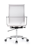 Joan Modern White Mesh Office Chair with Chrome Polished Frame