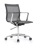 Joan Stylish Black Mesh Office Chair with Chrome Frame by Woodstock