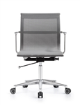 Joan Stylish Gray Mesh Office Chair with Chrome Frame by Woodstock