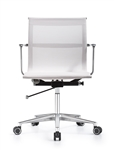 Joan Stylish White Mesh Office Chair with Chrome Frame by Woodstock