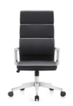 Jimi High Back Black Leather Professional Executive Chair with Chrome Frame